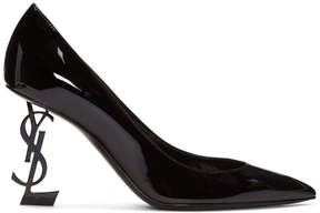 Saint Laurent Black Patent Opyum Heels