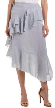 En Creme Total Asymmetric Midi Skirt