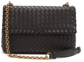 Bottega Veneta Olimpia Intrecciato Leather Shoulder Bag - Womens - Black