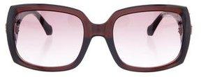 Roberto Cavalli Square Embellished Sunglasses
