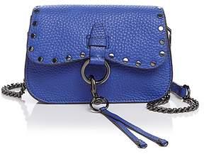 Rebecca Minkoff Keith Small Leather Saddle Bag - CORNFLOWER BLUE/GUNMETAL - STYLE
