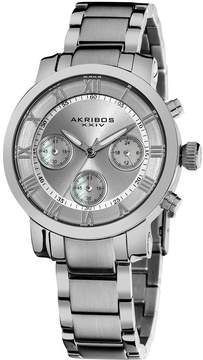 Akribos XXIV Akribos Silver Sunray Chronograph Stainless Steel Ladies Watch AK623SS