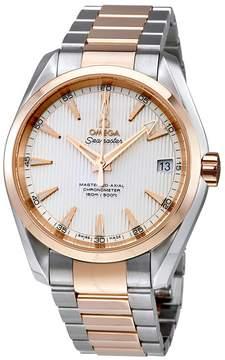 Omega Seamaster Aqua Terra Silver Dial 18K Rose Gold Bezel Automatic Men's Watch