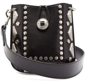 Isabel Marant Nasko Studded Leather Cross Body Bag - Womens - Black
