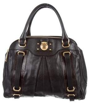 Marc Jacobs Leather Hudson Tote - BLACK - STYLE