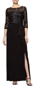 Alex Evenings Sequined Column Gown