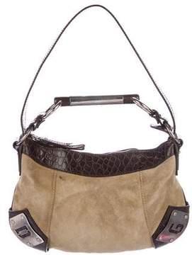 Dolce & Gabbana Embossed Leather-Trimmed Satchel