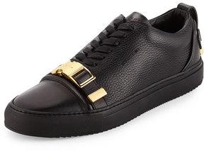 Buscemi Men's 50mm Low-Top Sneaker with Strap, Black