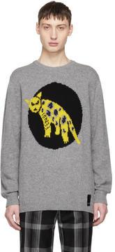 Fendi Grey Jaguar Sweater