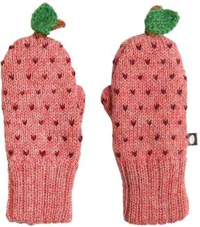 Oeuf Apple Baby Alpaca Doubled Tricot Mittens