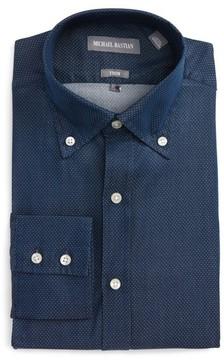 Michael Bastian Men's Trim Fit Microdot Dress Shirt