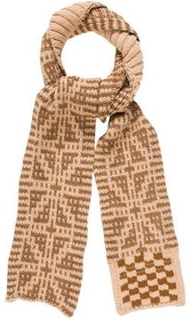 Dries Van Noten Wool Intarsia Muffler