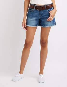 Charlotte Russe Dollhouse Frayed Denim Shorts