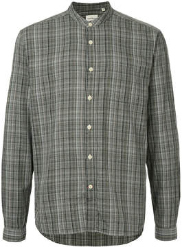 Oliver Spencer grandad-collar checked shirt