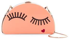 Milly Solid Eyelash Half Moon Clutch