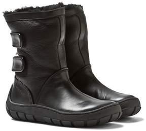 Pom D'Api Pom Dapi Black Leather Sheepskin-Lined Warm Boots