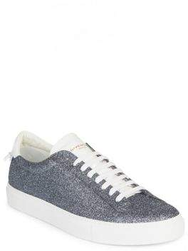 Givenchy Metallic Leather Low-Top Sneakers
