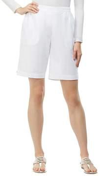 Allison Daley Pull-On Cottage Rivet Detail Hem Solid Bermuda Shorts
