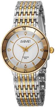 August Steiner Womens Two Tone Strap Watch-As-8178ttg