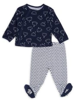 Petit Lem Baby's Two-Piece Top and Footed Pants Set