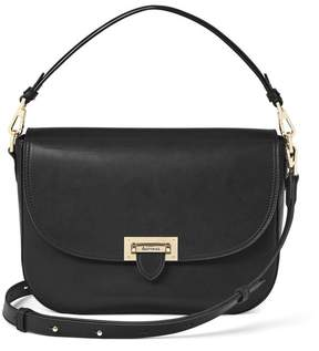 Aspinal of London Slouchy Saddle Bag In Smooth Black