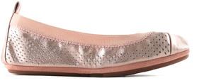 Yosi Samra Girls' Scarlet Leather Flat