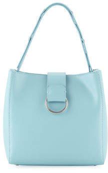 Neiman Marcus Ruga Boxy Convertible Smooth Leather Crossbody Satchel Bag