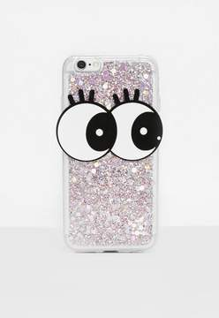 Missguided Clear Glitter Eyes iPhone 6 Case