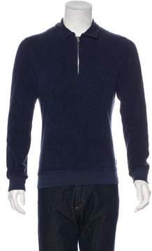 Orlebar Brown Terry Cloth Zip Sweatshirt w/ Tags