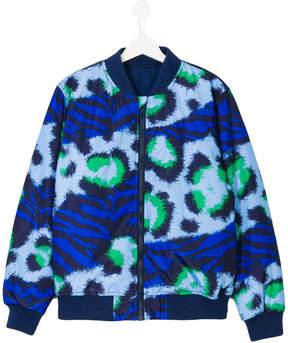 Kenzo animal print bomber jacket