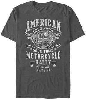 Fifth Sun Charcoal Heather 'American Motorcycle Rally' Crewneck Tee - Men