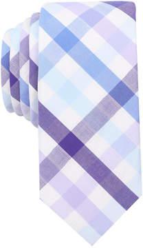 Bar III Men's Bold Multi-Gingham Skinny Tie, Created for Macy's
