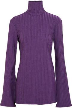 Ellery Mescaline Ribbed Stretch-jersey Turtleneck Top - Purple