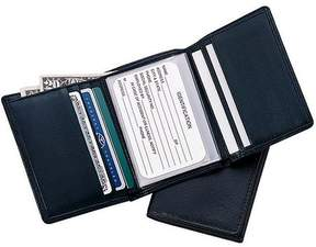 Royce Leather Men's Tri Fold Wallet in Genuine Leather