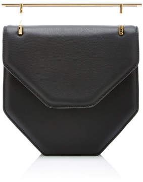 M2Malletier Amor/Fati Cross Body Black Leather Bag