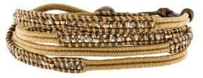 Chan Luu Crystal Bead Wrap Bracelet