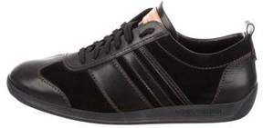 Louis Vuitton Leather & Suede Low-Top Sneakers