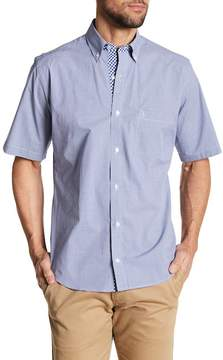 Tailorbyrd Short Sleeve Woven Regular Fit Checkered Print Shirt