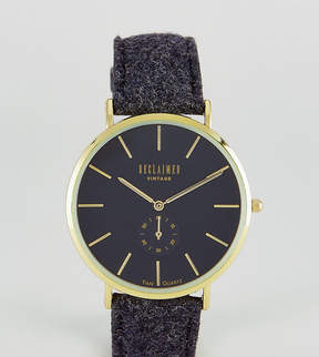 Reclaimed Vintage Inspired Sub-Dial Wool Watch In Black Exclusive to ASOS
