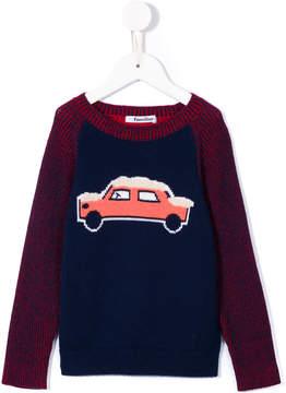 Familiar crew neck car sweater