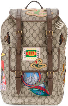 Gucci multi-patch GG backpack