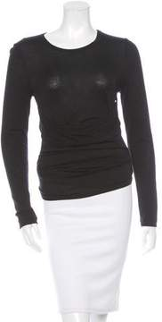 Vanessa Bruno Ruched Long Sleeve Top