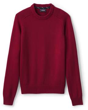 Lands' End Lands'end Men's Tall Drifter Cotton Crewneck Sweater