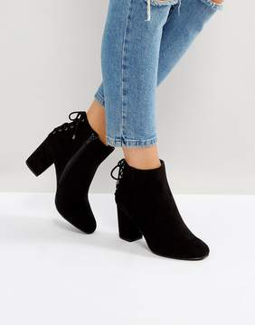 Head Over Heels by Dune Olli Lace Back Heeled Ankle Boots