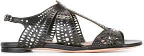 Alexander McQueen laser-cut sandals