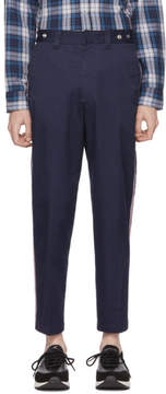 Diesel Blue P Tucs Tape Chino Trousers