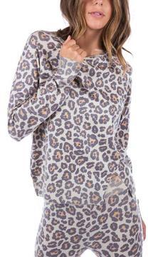 Ragdoll LA LEOPARD KNIT SWEATSHIRT Beige Leopard