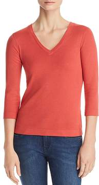 Three Dots V-Neck Top