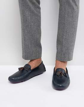 Ted Baker Urbonn Leather Loafers in Navy