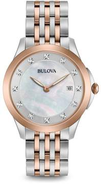 Bulova Classics Diamond White Mother of Pearl Dial Ladies Watch